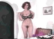 Грудастая волосатая - порно гифки