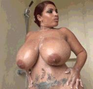Латинская толстушка - порно гифки