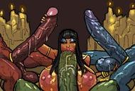 Оральный хентай - порно гифки