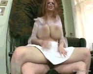 Отвисшие сисяры - порно гифки