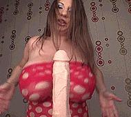 Сиськи жирной тетки - порно гифки