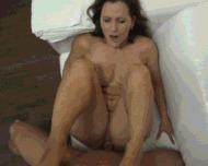 Сочная зрелая тетка - порно гифки