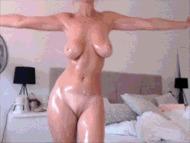 Супер тонкая талия - порно гифки