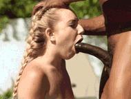 Тинка берет в ротик - порно гифки