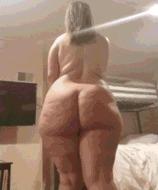 Яркая толстушка - порно гифки