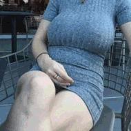 Жена с силиконовыми сиськами - порно гифки